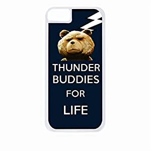 Thunder Buddies for Life - Hard White Plastic Snap - On Case-Apple Iphone 5 - 5s - Great Quality!