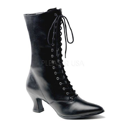 120 (8, Black) VIC-120 Granny Boot W Zipper (Saloon Girl Shoes)