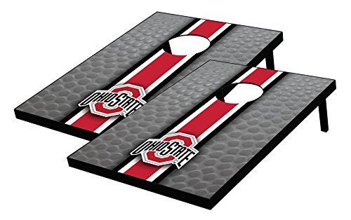 Wild Sports NCAA College Ohio State Buckeyes Tailgate Toss Bean Bag Game Set, Multicolor, One Size