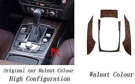 Style de fibre de carbone /à faible configuration HDCF Enjoliveur de panneau de commande de changement de vitesse Garniture dautocollant de panneau de console centrale Garniture de d/écor int/érieur