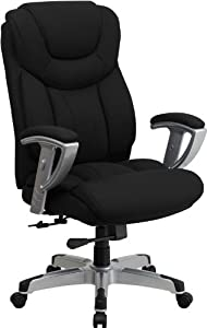 Flash Furniture HERCULES Series Big & Tall 400 lb. Rated Executive Swivel Chair with Adjustable Arms