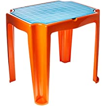 Mesa Plástica Infantil Versa com Tampa de Plástico Tramontina Laranja/Azul