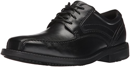 Rockport Men's Classic Tradition Bike Toe Oxford Black, 9.5 M US, 9.5 M US by Rockport