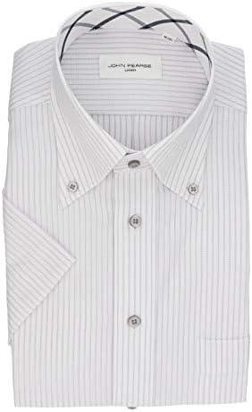 メンズワイシャツ 半袖 ボタンダウン 通常のシャツより汚れ(皮脂汚れ・油汚れ) が抜群に落ちる オイルガード(防汚) シャツ