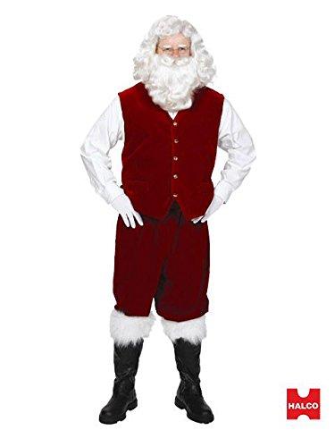 (Santa Velvet Vest with Buttons Adult - X-Large)