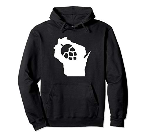 Wisconsin Hop State Home Love Beer WI Home Brewing Hoodie