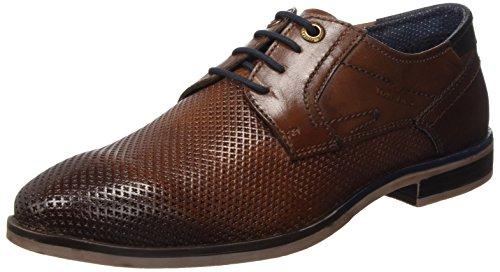 Tom Tailor 4889101, Derbys Homme Marron (Cognac)