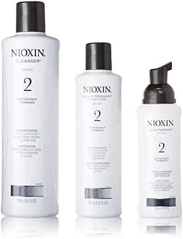 Nioxin System 2 Starter Kit Cleanser, Scalp Therapy & Scalp Treatment 1 set (Cleanser 300mL (10.1 FL OZ), Scalp Therapy 150 mL (5.07 FL OZ), Scalp Treatment 100mL (3.38 FL OZ))