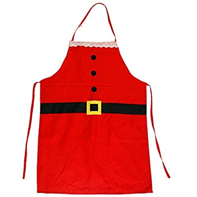 QBSM Christmas Santa Claus Apron Home Kitchen Cooking Baking Chef Apron, Restaurant Family Christmas Party Supplies