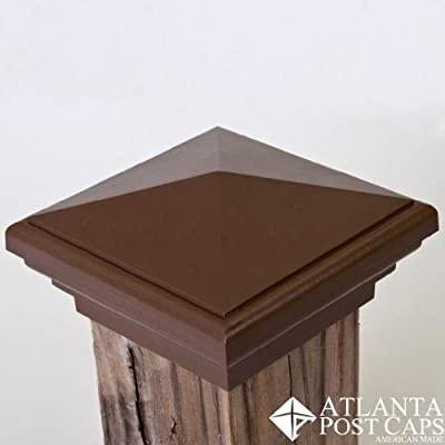4x4 (Nominal) Brown Pyramid Post Cap - with 10 Year Warranty
