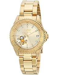 Invicta Womens Character Collection Automatic Stainless Steel Diving Watch, Color:Gold-Toned (Model: 24867)
