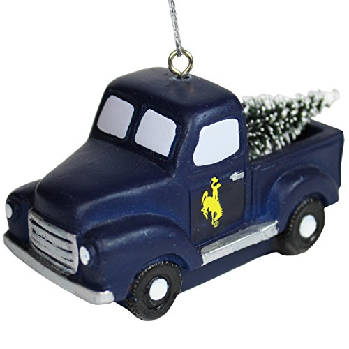 Forever Collectibles Wyoming Cowboys Official NCAA Holiday Christmas Ornament Truck With Tree by 517931 by Forever Collectibles