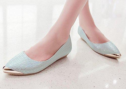 YCMDM sceglie i pattini casuali di modo ha indicato i pattini piani Nuova Primavera Autunno Moda Bianco Blu 34 35 36 37 38 39 , blue , 36