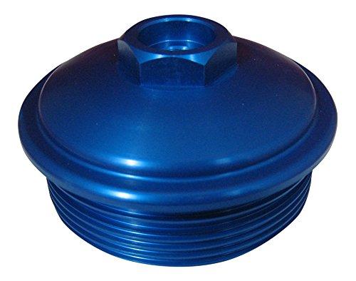 AccurateDiesel 6.0L Powerstroke BLUE Billet Aluminum Fuel Filter Cap with Pressure Test Port