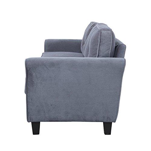 Classic Living Room Furniture Set Sofa Love Seat Accent Chair Dark Grey