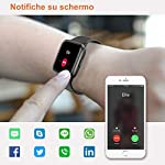 YAMAY-Smartwatch-con-Saturimetro-Misuratore-Pressione-Cardiofrequenzimetro-Orologio-Fitness-Uomo-Donna-Impermeabile-Smart-Watch-Touch-Fitness-Tracker-Contapassi-Cronometro-Sveglia-per-Android-iOS