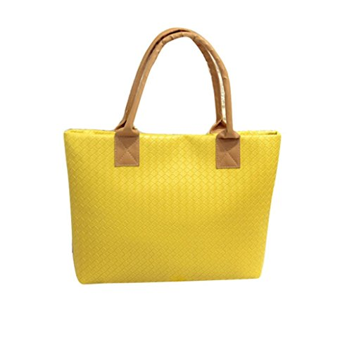 Tote��29��43��9CM�� Hobo Women Bag Handbag Messenger Yellow Tuscom Leather qUdTYxnw