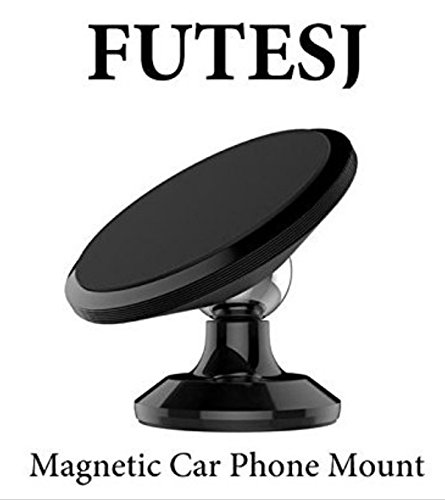 FUTESJ Magnetic Phone Car Mount Holder, 360° Rotation Cellphone Holder Car Dashboard Mount Compatible for iPhone 7 / 7 Plus / 8 / 8 Plus / X / Samsung Galaxy S8 / S7 / S6 and More - Black
