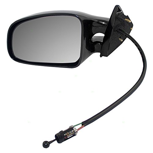 Am Manual Remote Mirror Driver (Drivers Manual Remote Side View Twin Post Mirror Replacement for Pontiac Grand Am 22613599)