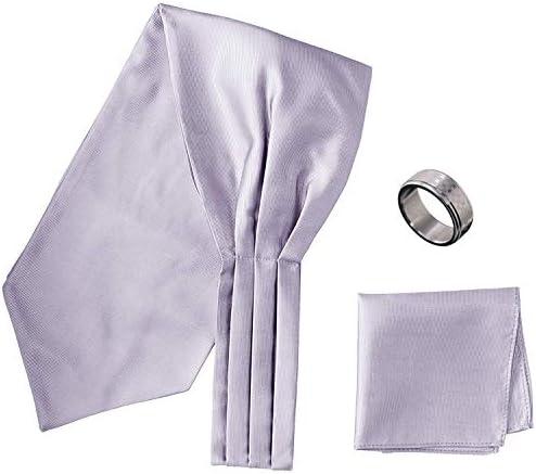 アスコットタイ・ポケットチーフ・タイリング マイクロポリ採用 チーフ メンズ タイリング:No.3 チーフ/タイ(タイプ/カラー):Silver-B