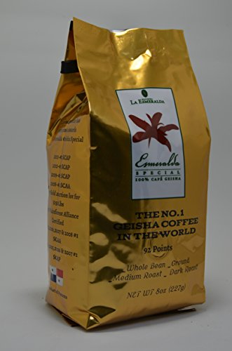 8oz,227g Panama FST Washed Geisha Coffee Whole Beans