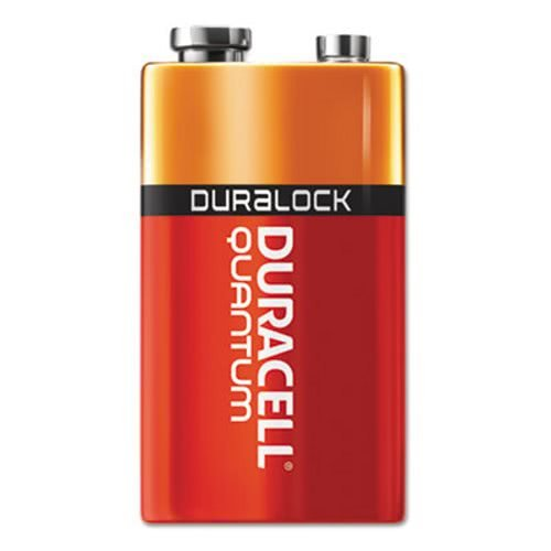 Quantum Alkaline Batteries with Duralock Power Preserve Technology, 9V, 12/Box, Sold as 1 Box