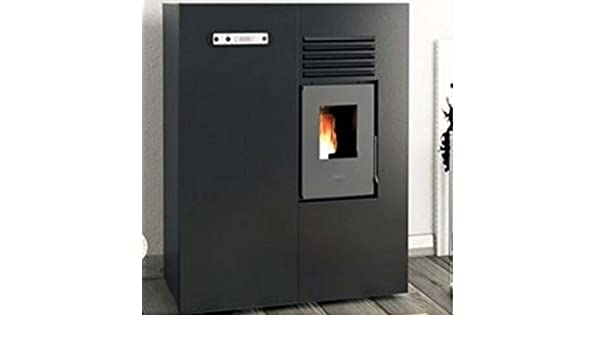 Eva Calor - Estufa de pellets modelo Slim Matilde, 4 KW - Color negro en relieve: Amazon.es: Hogar