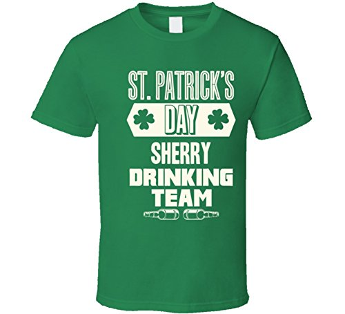 Sherry Irish Drinking Team Whiskey Beer Custom Last Name St Patricks Day T Shirt L Irish Green