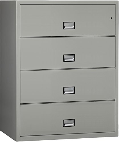 Phoenix Lateral 44 inch 4-Drawer Fireproof File Cabinet - Light Gray - Phoenix Safe