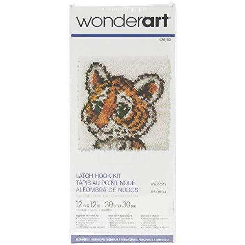 - Wonderart Tiger Cub Latch Hook Kit, 12