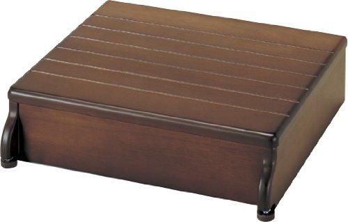 アロン化成 安寿 木製玄関台 45W-40-1段 ブラウン B0010KIHZY 幅:45cm ブラウン ブラウン 幅:45cm