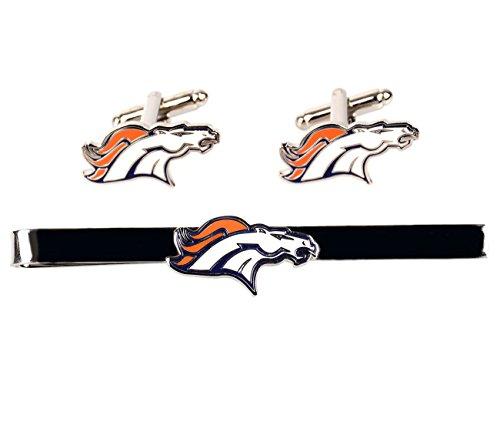 NFL Denver Broncos Cufflinks & Tie