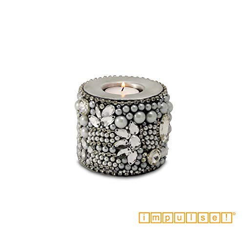 IMPULSE! Diamante Diamond Studded Tea Light Holder, Set of 2