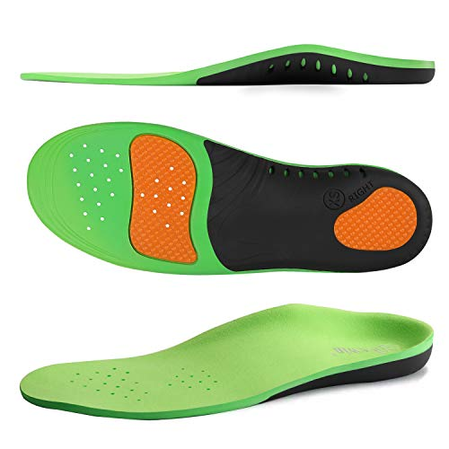 NICEWIN Pain Relief Arch Support Insoles for Men Women-Comfortable Shoe Inserts for Plantar Fasciitis Prevention Flat Feet High Arch Green