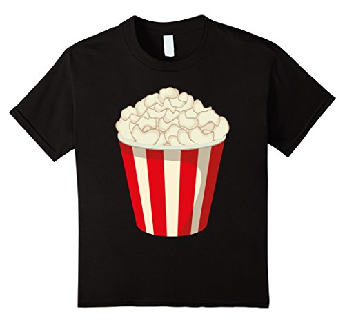 Halloween Costumes At Last Minute (Kids Funny Popcorn Halloween Snack T-Shirt Last Minute Costume 4 Black)
