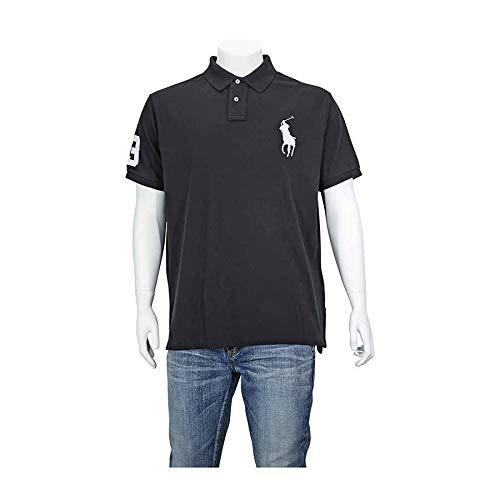 Polo Ralph Lauren Mens Custom Fit Big Pony Mesh Shirt (XXL, Black 2017)
