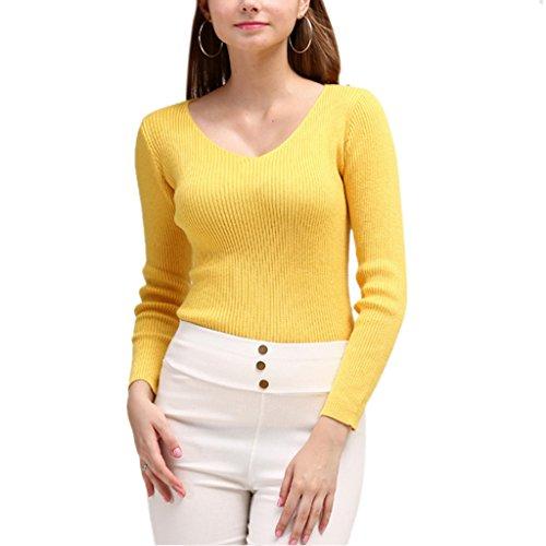 Nergivep - Sudadera - para mujer amarillo