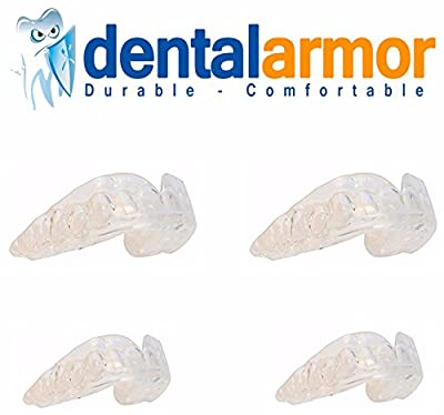 Professional Teeth Dental Guards - 4 PACK - Stops Teeth Grinding, Clenching, Bruxism, Tmj - Includes Fitting Instructions - 4 Custom Teeth Mouth Guards(2 Large, 2 Small) and Storage Case