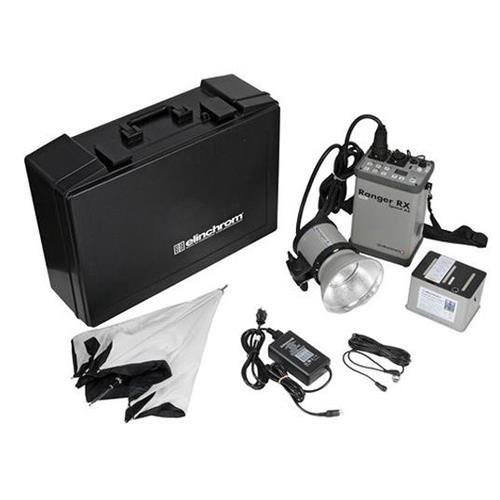 Elinchrom Ranger RX Speed AS 1100W/s Asymmetrical Battery Powered Pack Kit, Includes Ranger A Action Head, 7in Grid Reflector, 33in Umbrella Varistar Set, Sync Cable PC-Amphenol, Hard Shell Case by Elinchrom