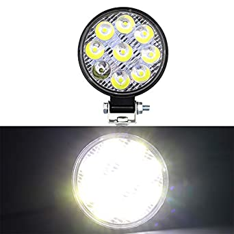 feeilty 27W 42W LED Work Light Floodlight Beam Fog Lamps High Off-Road Driving Fog Lights Brightness for Car Off-Road Driving