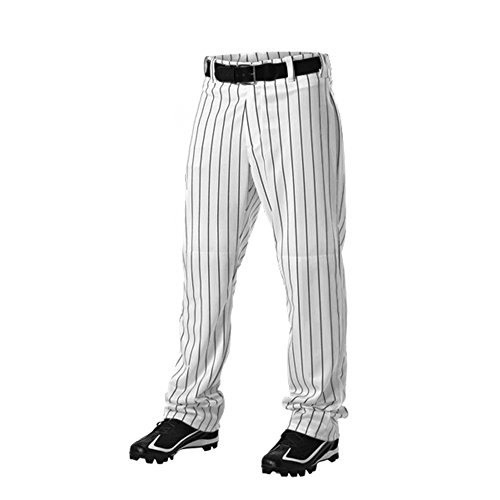 ALLESON 605WPNY YOUTH BOYS PIN STRIPE UNIFORM PANTS A Black XL