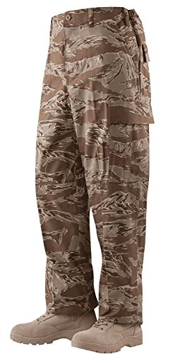 (Camo Distributors Pants, US Made BDU, Cotton R/S, Desert Tiger Stripe, Size LR )