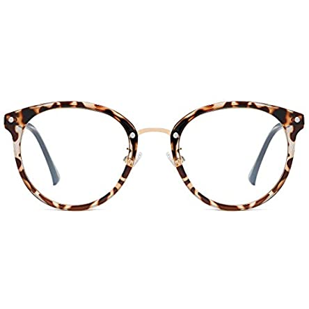 SOJOS Retro Round Blue Light Blocking Glasses TR90...