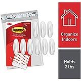 Command Medium Designer Hooks, White, 9-Hooks, 12 Strips (GP081-9NA) - Easy to Open Packaging