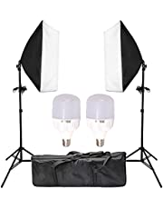 "Abeststudio 2x25W LED Continuous Lighting Kit 20""x28""/50x70cm Softbox Soft Box Photo Studio Set Light Bulbs Lamp 5500K Photography E27 Socket Softboxes AU Plug"