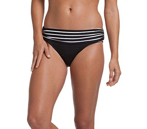 Anne Cole Bikini Swimsuit Bottoms Black Stripe (Small, Multi)