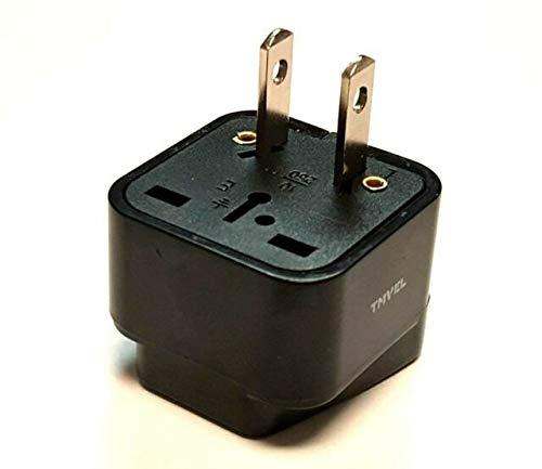 Tmvel Universal International Power Adapter Plug Tip Converter - Convert Europe, EU/UK/CN/AU to USA - Great for Cell Phone Charger - Not Converter