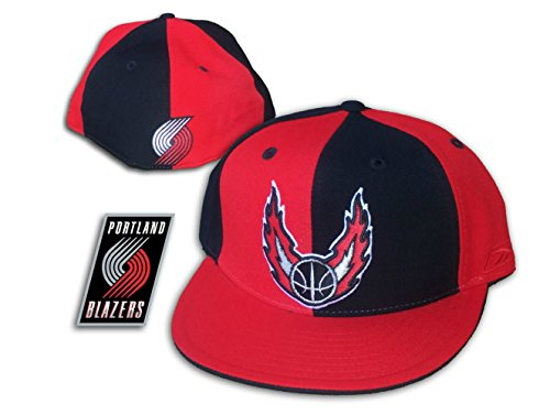 Portland Trailblazers Fitted Size 7 1/8 Alternate Logo Hat Cap - Red & (Alternate Logo Cap)