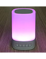 Touch LED lamp colorful bluetooth speaker , White