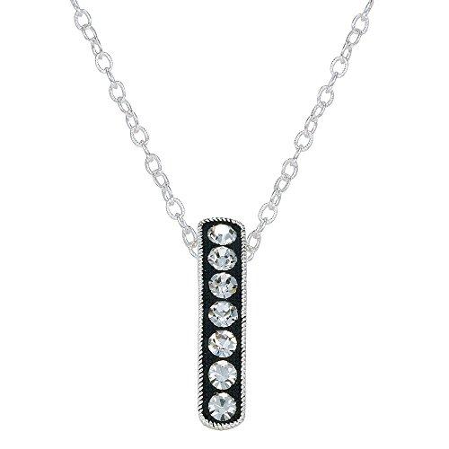 Montana Silversmiths Crystal Shine Hanging Bar Necklace (NC1132) - Montana Silversmiths Crystal